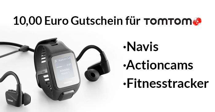 10,00 Euro TomTom Gutschein für Navis, Fitness-Tracker und Actioncams