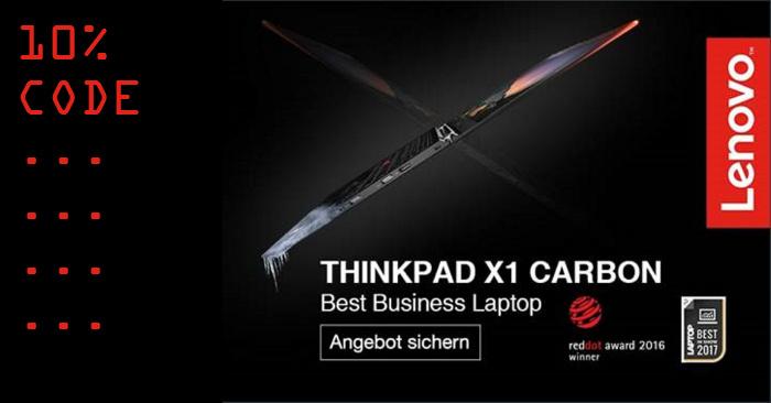 10% Lenovo Gutscheincode für Thinkpad X1