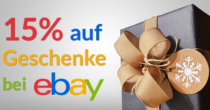 15% ebay Gutscheincode für Geschenke zu Weihnachten