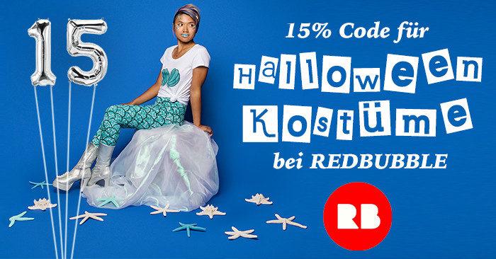 15% Redbubble Rabattcode Halloween-Kostüme