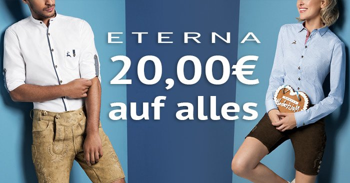 20,00 Euro Eterna Gutschein für Mode