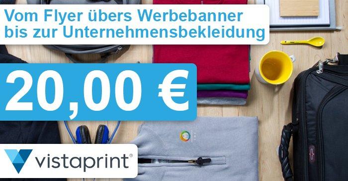 20 Euro Vistaprint Gutschein für Fotos