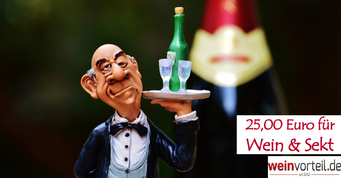 25 Euro Gutschein für Wein und Sekt
