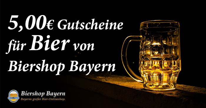 5,00 Euro Biershop Bayern Gutschein für Bier