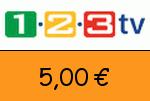1-2-3.tv 5,00€ Gutscheincode
