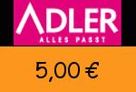 Adlermode 5,00€ Gutschein