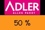 Adlermode 50 % Gutscheincode