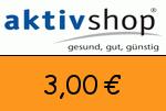 Aktivshop 3,00 Euro Gutscheincode
