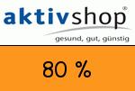 Aktivshop 80 Prozent Gutschein