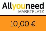 AllYouNeed 10,00 Euro Gutscheincode
