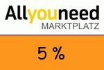 AllYouNeed 5 Prozent Gutschein