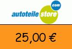 Autoteilestore 25,00 Euro Gutschein