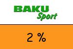 Baku-Sport 2 Prozent Gutschein