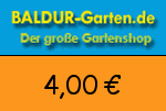Baldur-Garten 4,00 Euro Gutscheincode