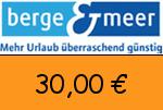 Berge-Meer 30,00€ Gutschein