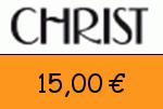 Christ 15 Euro Gutscheincode