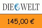 Die-Welt 145,00 Euro Gutscheincode