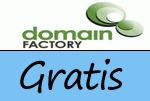 Gratis-Artikel bei domainFACTORY