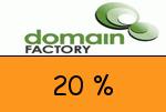 domainFACTORY 20 Prozent Gutschein
