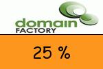 domainFACTORY 25 Prozent Gutschein