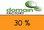 domainFACTORY 30% Gutschein