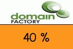 domainFACTORY 40 Prozent Gutschein