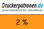 Druckerpatronen 2 Prozent Gutschein