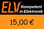 ELV 15 Euro Gutschein