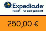 Expedia 250,00 Euro Gutschein