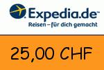 Expedia.ch 25,00 CHF Gutscheincode
