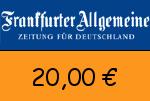 FAZ 20 € Gutscheincode