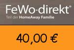 Fewo-direkt 40,00 Euro Gutscheincode
