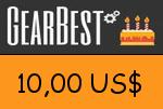Gearbest 10,00 US Dollar Gutscheincode