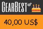 Gearbest 40,00 US Dollar Gutscheincode