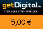 getDigital 5,00€ Gutschein