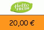 HelloFresh 20 € Gutscheincode