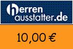 Herrenausstatter 10,00 Euro Gutscheincode
