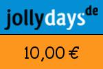Jollydays 10,00 Euro Gutscheincode