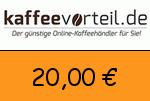 Kaffeevorteil 20 € Gutscheincode