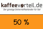 Kaffeevorteil 50 % Gutschein