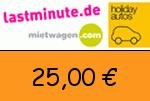 Lastminute.de 25,00 Euro Gutscheincode