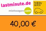 Lastminute.de 40,00 Euro Gutscheincode