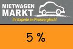 Mietwagenmarkt 5 Prozent Gutscheincode