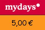 Mydays 5,00€ Gutschein