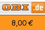 OBI 8,00 Euro Gutschein