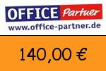 Office-partner 140,00 Euro Gutscheincode