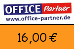Office-partner 16,00 Euro Gutscheincode