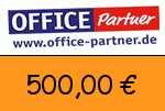 Office-partner 500,00 Euro Gutscheincode