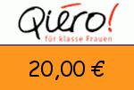 Qiero 20 € Gutschein