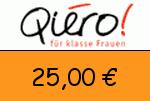 Qiero 25,00 Euro Gutschein